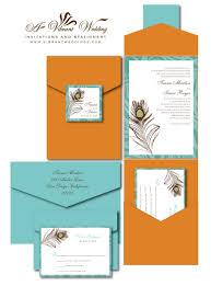 orange wedding invitation u2013 a vibrant wedding
