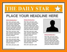 3 front page newspaper article template invitation format