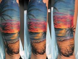 Surf Flower Tattoo Designs Flower Sleeve Tattoo Everybody Loves This Tattoo Of Tropical