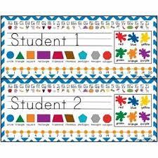 student name tags for desks student desk tags name nautical and sea theme plates editable with