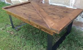 barn door side table farmhouse table current inventory rustic modern