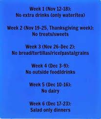 6 weeks till challenge