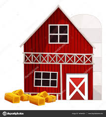 red barn and silo u2014 stock vector interactimages 147460231