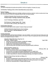 Elementary Teacher Resume Sample by Online Teaching Resume Best Resume Collection