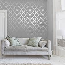 henderson interiors sample camden trellis wallpaper soft grey