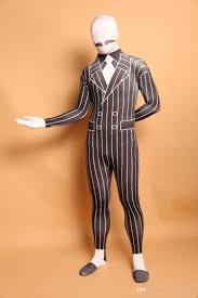 lycra halloween mask 2017 black white gentleman lycra spandex zentai suit
