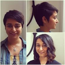 pixie to long hair extensions short hair before and after pixie cut my work pinterest