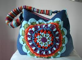 bag pattern in pinterest upcycled denim and crochet bag pattern giveaway closed luz patterns