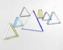 minimal decor modern glass suncatcher set of 7 minimalist decor geometric