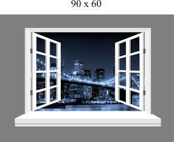 wall art ideas design window three dimensional brooklyn wall art