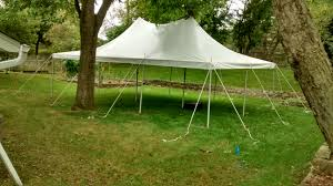 backyard party with a 20 u0027 x 30 u0027 and pole tent in iowa city ia