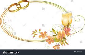 champagne glasses clipart frame wedding rings flowers champagne glasses stock vector