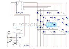 3x3x3 led cube circuit without using microcontroller circuit