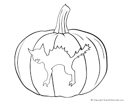 Free Printable Halloween Pumpkin Coloring Pages by Cat In Pumpkin Coloring Page Free Printable Halloween Cat