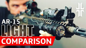 hunting lights for ar 15 ar 15 flashlight comparison streamlight vs surefire youtube