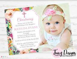 Lunch Invitation Card Baptism Party Invitations Christening Party Invitation Cards