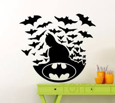 compare prices on dc wall art online shopping buy low price dc batman poster black wall art sticker dark knight superhero dc marvel comics vinyl decal home interior