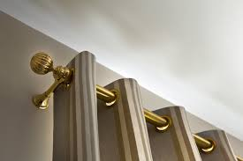 End Mount Curtain Rod How To Hang Curtain Rods And Curtains Using A Laser Level