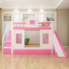 Bunk Beds With Slide And Stairs Wood Bunk Bed With Stairs And Slide Option And Adalyn