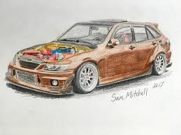 lexus is300 drawing jdm draw drawing on instagram