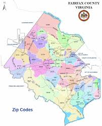 fairfax county map fairfax county va zip code map fairfax county va