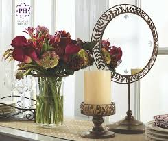 Candle Holders Decorated With Flowers Gloria Décor Crystal Hurricane Vase With Flower Arranger