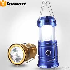 2017 6 1 led solar telescopic camping lantern 2 in 1 portable lamp