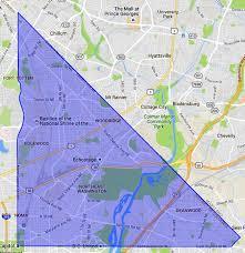 Zip Code Map Az by Ne Washington Dc A Map And Neighborhood Guide