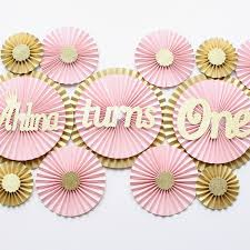 custom paper fans birthday decorations blush decorations blush pink paper