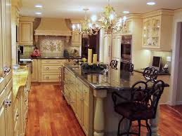 kitchen beautiful kitchen chandelier design over white kitchen