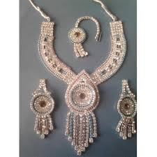 diamond set multicolor imitation diamond set with maang tikka at rs 50000