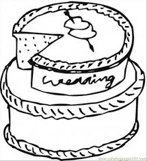 wedding cake coloring free desserts coloring pages