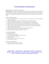 Job Responsibilities For Resume by Machine Operator Job Description For Resume Template Idea
