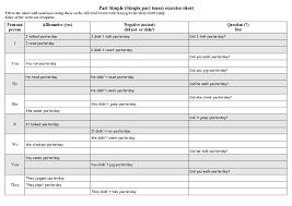simple past worksheet simple past teachers board