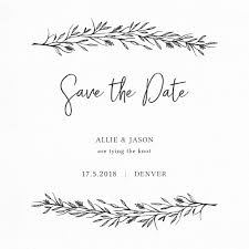 save the date cards free save the date card with branches vector free