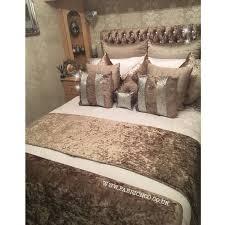 bed runners plain crushed velvet bed runner fabric n co