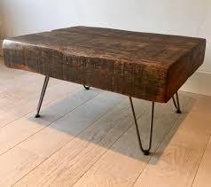 rustic oak coffee table oak coffee table reclaimed handmade rustic industrial in