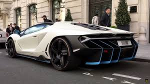 first lamborghini first lamborghini centenario on the road in paris hd video