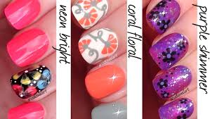 arcadianailart flowers 3 ways easy nail art for beginners