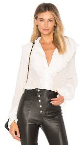 blouse for for lemons vivi pintuck blouse in ivory revolve
