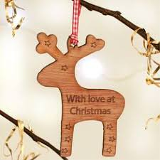 wooden fox personalised decorations trees foxes and