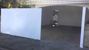 Garage Door Sliding by Double Sliding Garage Door Youtube