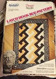latch hook rug canvas bucilla rug 26 in by 48 in pattern only