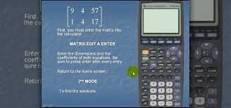how to solve a set of linear equations with the ti 83 math wonderhowto