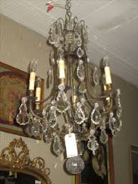Vintage Crystal Chandelier For Sale Antique Crystal U0026 Iron Chandeliers