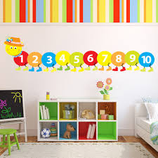 Wall Decals For Baby Room Counting Caterpillar Wall Sticker Childrens Wall Decal Baby