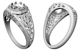3d printed engagement ring 3d print model printable solitaire engagement ring