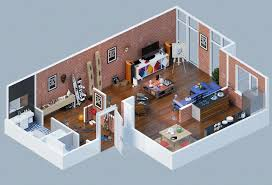 25 charming 3d apartment plans apartments woods apartments and 3d