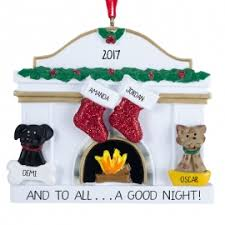 cat white fireplace ornament