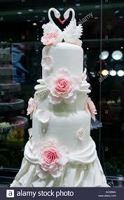 swan wedding wedding cake in black swan luxury cake shop in beijing china